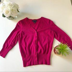 Ann Taylor XS Cardigan Hot Pink